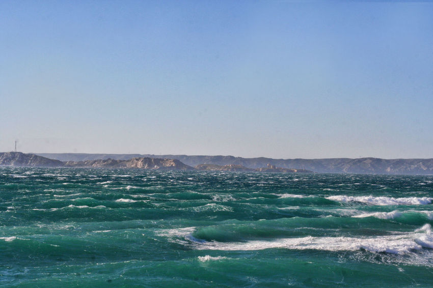 Beauty In Nature Blue Clear Sky Day Landscape Landscape_Collection Landscape_photography Mediterranean  Mediterranean Sea Méditerranée Nature No People Outdoors Scenics Sea Sea And Sky Sky Vawes Water Waterfront Wave
