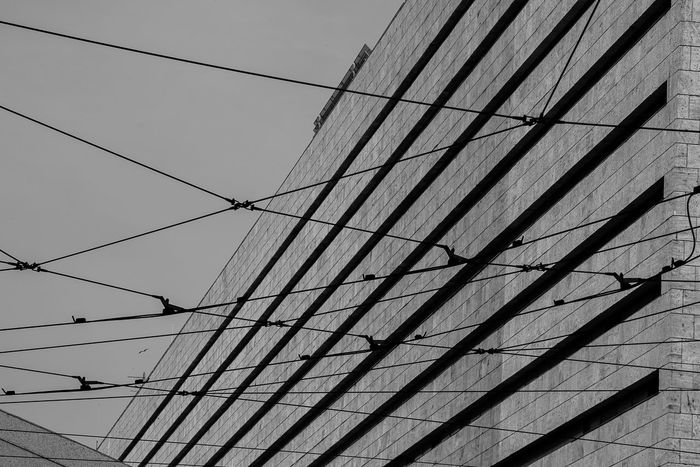 Station termini Roma Electricity  Cable Connection No People Low Angle View Power Supply Sky