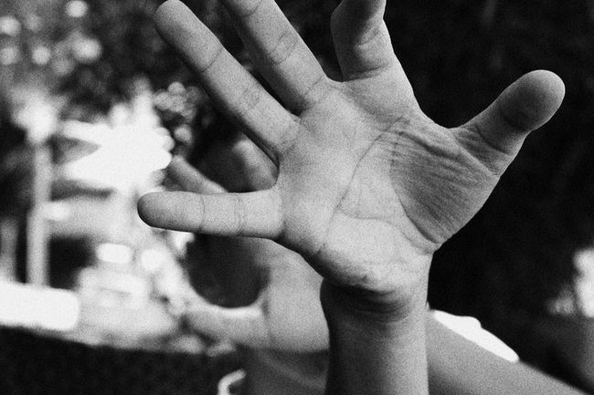 Blackandwhite Close-up Focus On Foreground Hand Human Finger Human Skin Leisure Activity Lifestyles Person