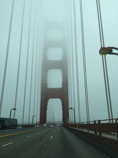 Sanfrancisco Frisco Golden Gate Bridge Golden Gate Fog California