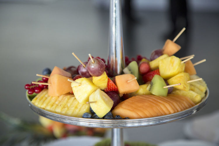 Aperitif Aperitivo  Aperitivo Time Catering Close-up Day Desert Exotic Fingerfood Food Freshness Fruit Fruits On Skewer Healthy Eating Indoors  Kiwi - Fruit Multi Colored No People Pieces Skewer Variation