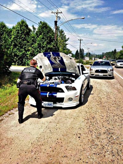 Cops know a good car when they see one. Cops Pic Mustang Awesome