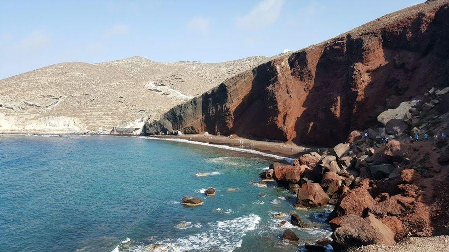 Red beach in Santorini. Santorini Santorini, Greece Redbeachsantorini Beach Greece Greece, Crete View Nature Sea