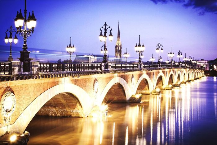 Pont de Pierre - Bordeaux Light Photography France Bordeaux Bridge - Man Made Structure Arch Architecture Connection Arch Bridge Built Structure River Water Transportation Illuminated Outdoors No People City Travel Destinations First Eyeem Photo