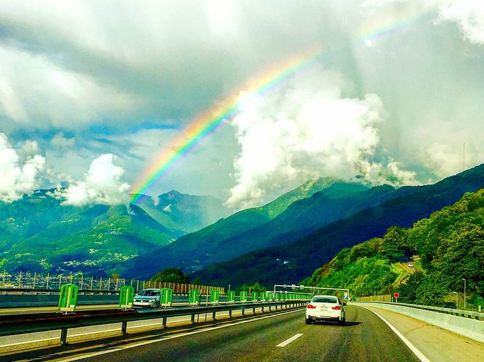 The Journey Is The Destination TICINO ♡ Italianstate Switzerland Rainbow Allsevencolours Roadtrip