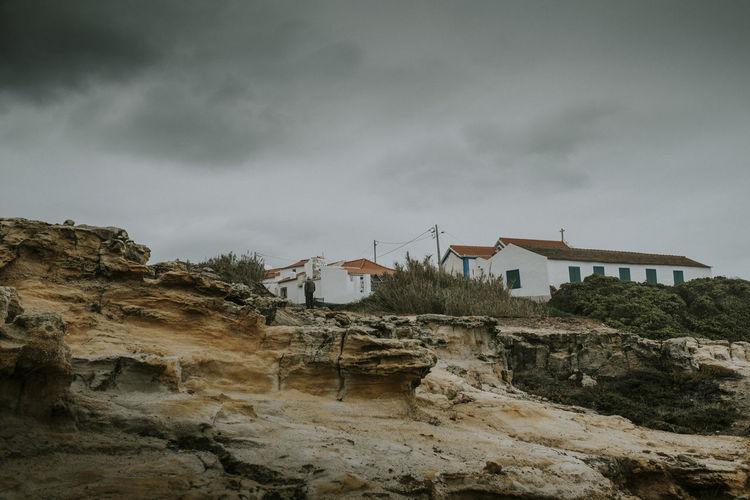 Built Structure Building Outdoors Storm Rock Man Eerie Travel Photography Village Overcast