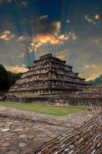 Travel Destinations History Sky Old Ruin Ancient Civilization Architecture Cloud - Sky Tourism Tajin Veracruz, México Papantla, Veracruz, México