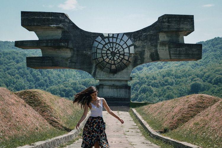 One Woman Roadtrip Summer Monument Spomenik Croatia Lifestyles Leisure Activity History The Past Travel Day Travel Destinations Outdoors Building