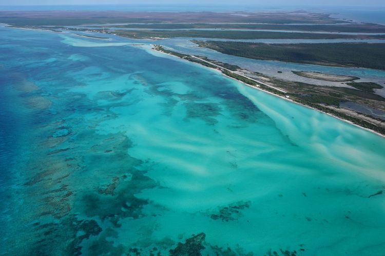 Deep Water Cay, Grand Bahama Island Bahamas Exuma Sea Clear Water Ocean Tranquility Aerial View Aerial Photography