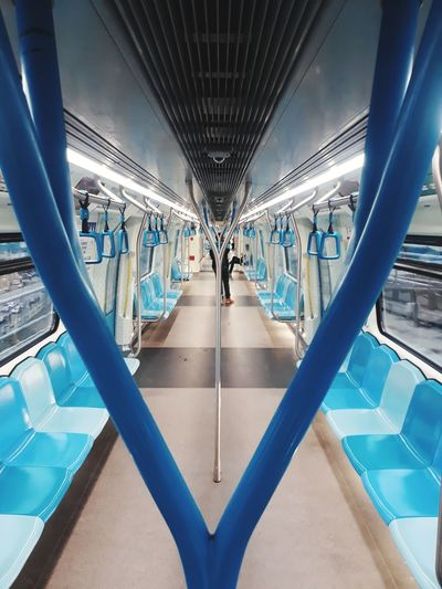 the Y Mrt Kuala Lumpur Malaysia Handle Handrail  Train Symmetry City Modern Blue Architecture EyeEmNewHere The Street Photographer - 2018 EyeEm Awards The Architect - 2018 EyeEm Awards The Great Outdoors - 2018 EyeEm Awards The Traveler - 2018 EyeEm Awards Modern Hospitality