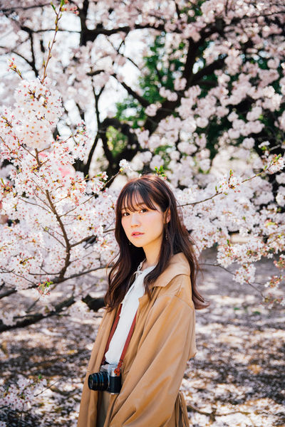 Japanese girl with cherry blossom Beautiful People Japan Japanese  Sakura Tokyo Beauty Beauty In Nature Cherry Blossom Cherry Tree Flower Flowers Nature Outdoors Portrait Shinjuku Gyoen National Garden Young Women EyeEmNewHere The Portraitist - 2018 EyeEm Awards EyeEmNewHere