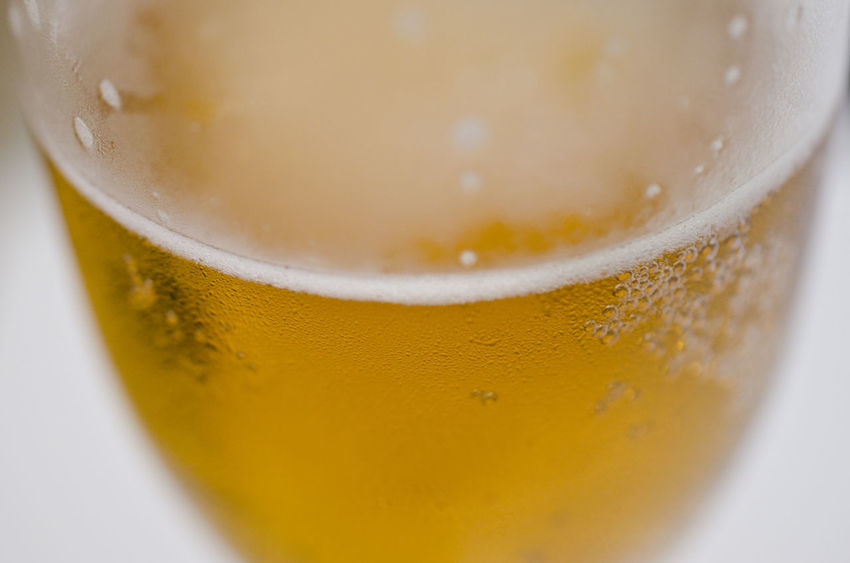 Freshly poured cold beer Alcohol Beer Beer - Alcohol Close-up Drink Drinking Glass Extreme Close-up Food And Drink Glass High Angle View Indoors  Pint Glass Refreshment Selective Focus Studio Shot