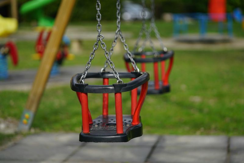 Playground Hanging Red Swing Outdoors No People Close-up Day Sony α♡Love Sony A7rm2 Sonyimages Luca Riva Sony A7RII Springtime Tranquility Lago Di Garlate,italy Lake View Lago Di Como, Italy Lago Di Como Altalena Giochi Parco Giochi Giardino Verde