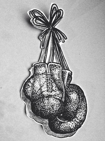 My Art Black Tattoo Drawing Boxing