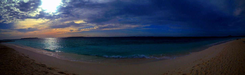 Beach Water Enjoying The Sun Sunset