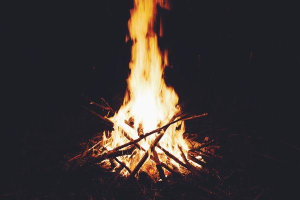 Burning Flame Heat - Temperature Glowing Night Bonfire Campfire No People Outdoors Tree Fireball Close-up