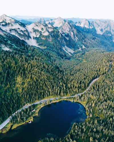 Northern Cascades. Mountain Beauty In Nature Scenics Nature Tranquil Scene Tranquility Mountain Range No People Water Landscape Day Outdoors Lake Tree Growth Sky