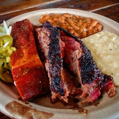 BBQ Smoked Meat Brisket Pork Ribs Foodie Food And Drink Food Ready-to-eat Serving Size Plate Freshness Meat