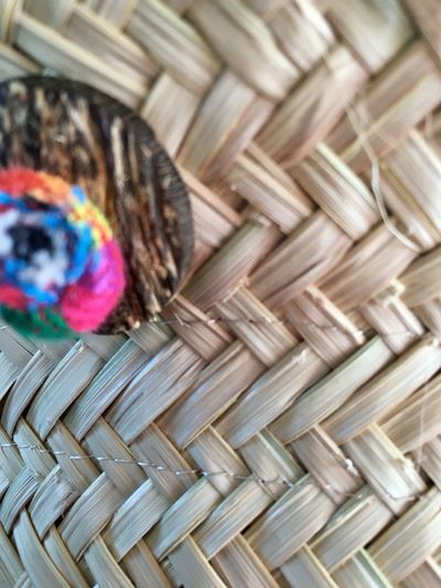 Handmade Arts And Crafts Organic Lifestyle Hat Palm Wicker Basket Whicker Picnic Basket Art And Craft Straw Close-up Picnic No People Multi Colored Day Indoors