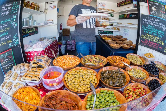 Sunday market Fisheye Food Food And Drink Market Market Stall Olives Street Food Street Photography Food Stories
