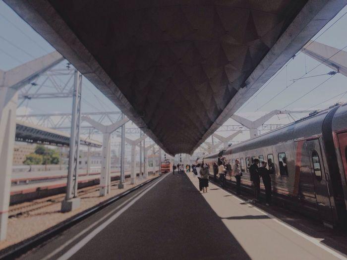 The Way. Sun. Day. View. Station Train Train station First Eyeem Photo