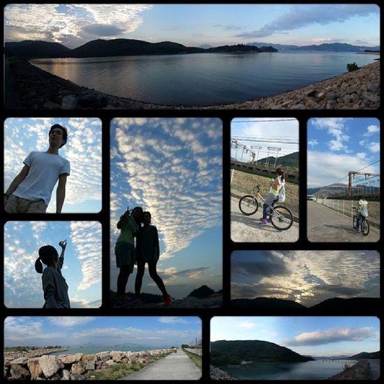 只需陽光夠好 同黨夠中氣  It's a beautiful day ♥ (ノ´▽`)ノ♪ Sky Blue Bicycle Love hongkong hk instasky instadaily instamood
