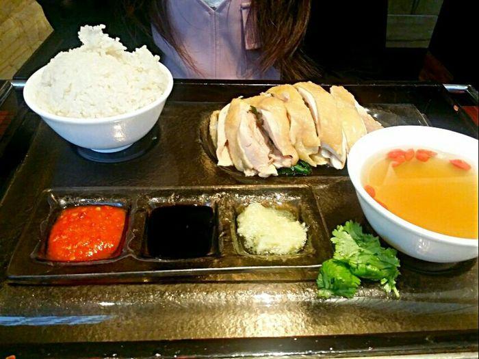 Hainan chicken rice..i like it deboned Food Porn In My Mouf Eyeem Food  Chinese Food
