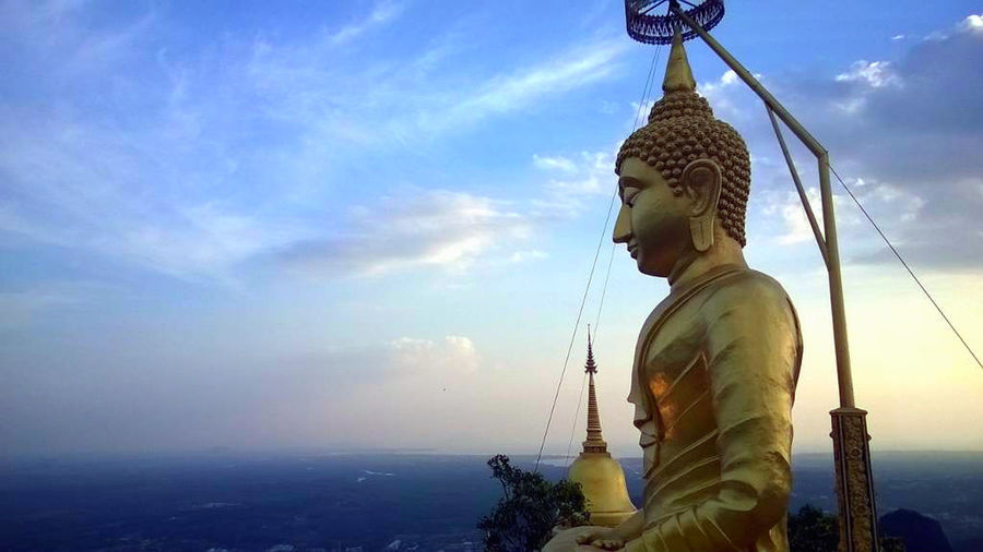 Human Representation Mountain Temple No People Outdoors Sculpture Sky Statue Temple Thailand
