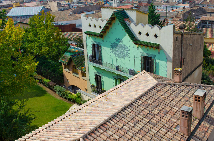 Architecture Brick Wall Building Exterior Built Structure Catalunya Community Day Exterior Girona House Human Settlement No People Old Outdoors Panoramic View Religion Residential District Residential Structure Roof Roof Tile Rooftop Rooftop SPAIN Town Travel