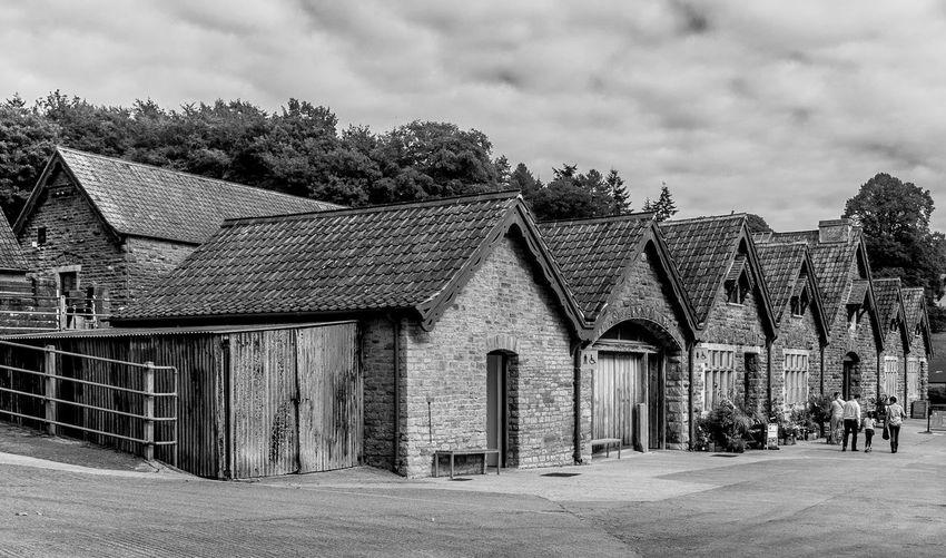 Cowper shed, Tyntesfield, Bristol Monochrome Black And White Architecture Tyntesfield