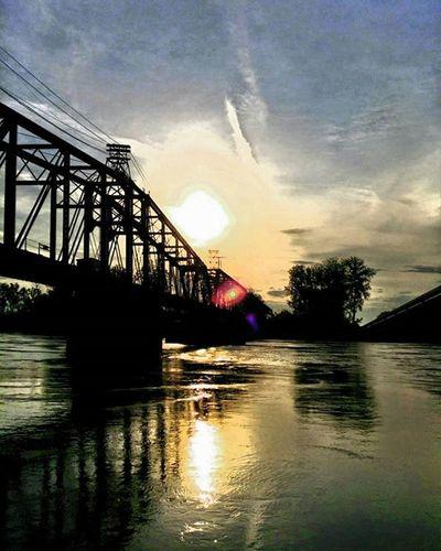 Sunrise over train bridge .....Ks_pride Atchison Wow_america_landscape World_bnw Googleplus Fuckyeah Sunrisagram Wow_america_bnw Sunrise WOW Kansasphotos Instawow Instapic Morningrun Sunrisagram