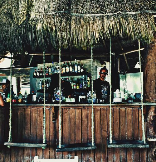 Beach Life Outdoor Bar Caribbean Architecture Real People Built Structure Outdoors Protection Lifestyles Leisure Activity Men