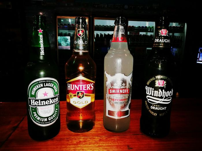 Alcohol In A Row Refreshment Happiness Freshness