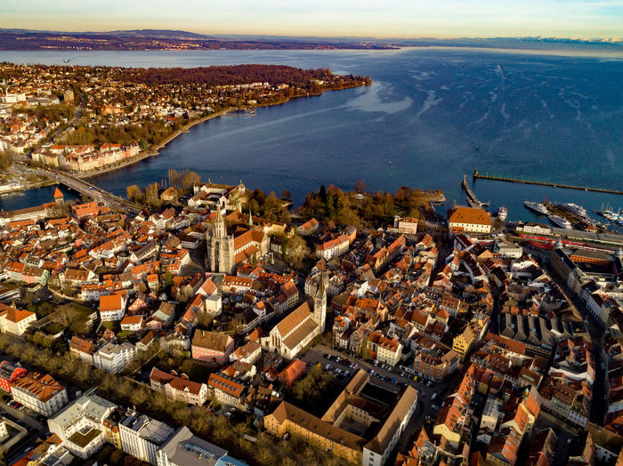 Konstanz Aerial View Architecture Building Building Exterior Built Structure City Cityscape Day High Angle View Luftaufnahme Nature No People Office Building Exterior Outdoors Residential District Sky Skyscraper Town Transportation Travel Destinations Water