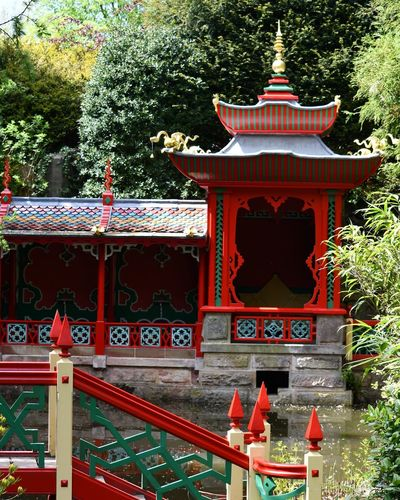 Chinese Garden King - Royal Person Tree City Red Royalty Place Of Worship Religion Architecture Sky