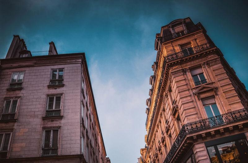 Building Exterior Architecture Built Structure Low Angle View Sky Cloud - Sky Window City Building No People Nature Outdoors Illuminated Residential District Day Travel Destinations City Life Apartment Dusk Old Paris France Trip Travel Traveling