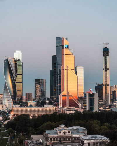 City Cityscape Moscow Moscow City Skyline Citysunset Financial District  Sunrise Urban