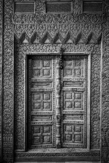 Architecture Built Structure Building Exterior Building Door No People Entrance Old Window Closed Day Wall - Building Feature Pattern House History Wall The Past Wood - Material Security Protection Outdoors Ornate