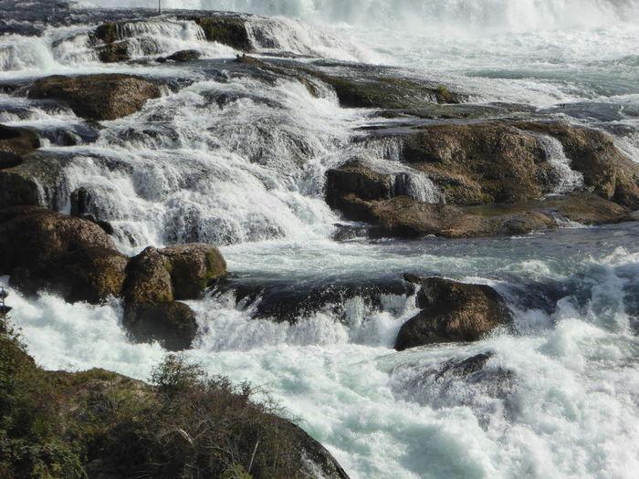 Beautiful Rhine River Waterfall In Neuhausen Am Rheinfall