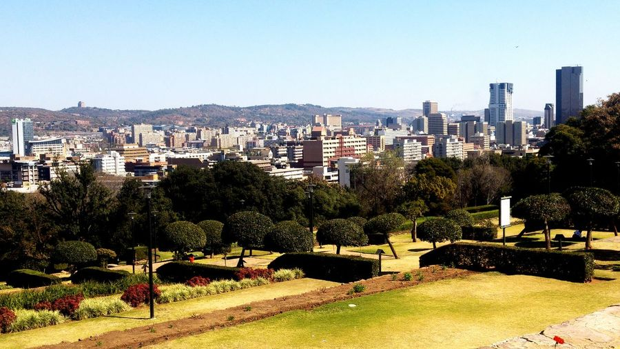 Pretoria. South Africa Pretoria, South Africa South Africa City Cityscape Urban Skyline Skyscraper Clear Sky Sunlight Sky Architecture Building Exterior Office Building Tall - High High Rise Skyline Financial District  Infrastructure