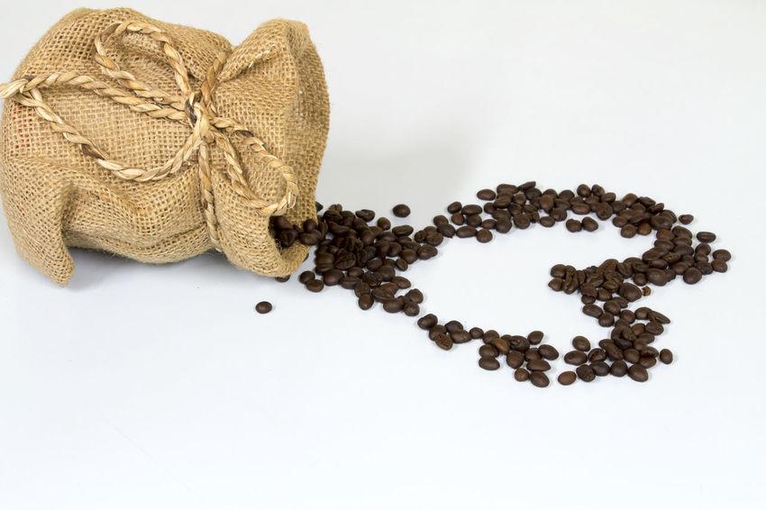 Baghdad Coffe Beans Coffee Drink Heart Love Love ♥ Studio Shot Valentine White Background