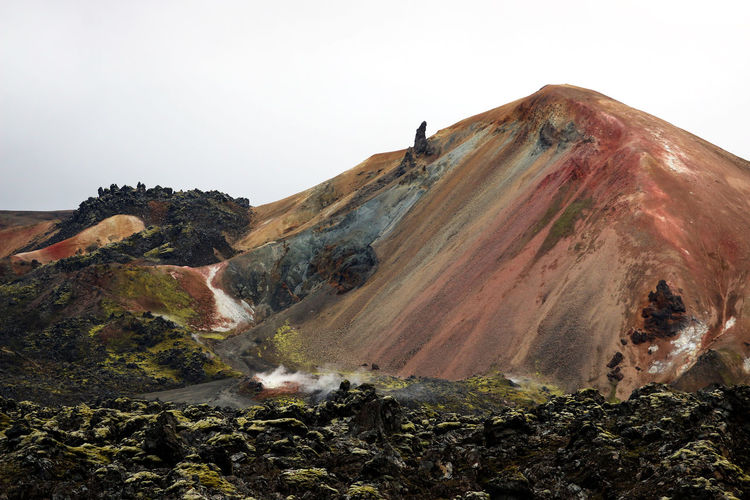 volcanic rocks Black Stone Desert Gas Iceland Volcanoes Molten Rock Red Rocks  Wild Colors Of Nature Wild Nature