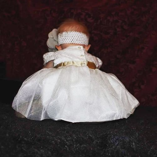 Child Rear View One Girl Only Night Childhood One Person People Black Background Daughter Baby Gurl Babygirl Dressing Up Babies Only Sitting Baby Christmas Time Christmastime