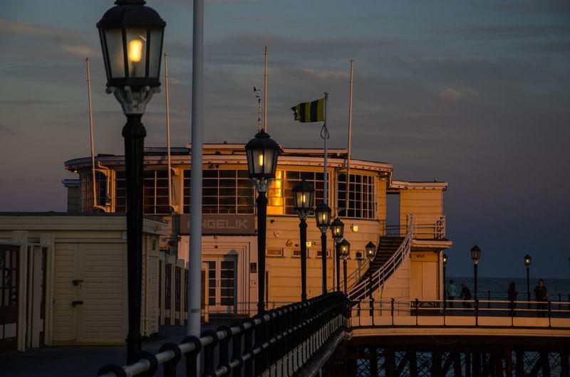 Worthing pier at sunset