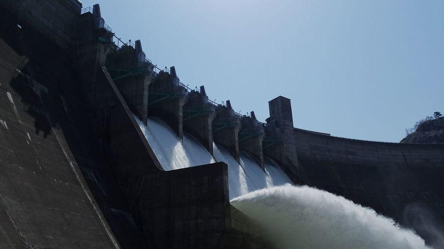 yuda-da湯田ダム Iwate Japan Iwate,japan Iwate Prefecture Waterfall Mountain Dam Flowing Water Hydroelectric Power