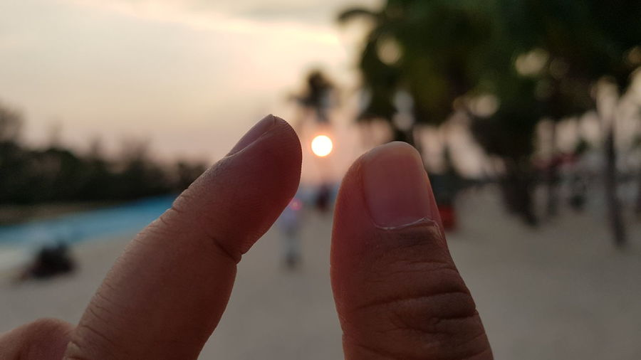 Holding the sunset