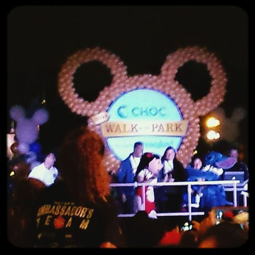 Lilo & Stitch at the CHOCWalk opening ceremony