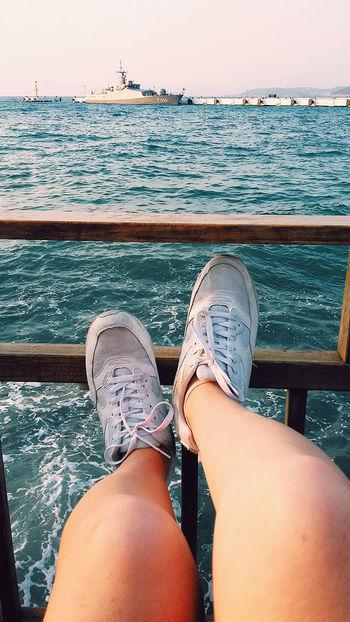 Two Is Better Than One Sea And Sky Footsteps Splendid Dreamer Kusadasi BlueIsTheWarmestColour
