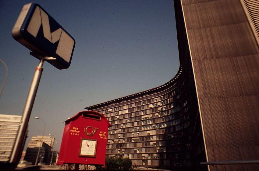 Built Structure Outdoors Building Exterior No People Architecture EEC Building Belgium Brussels Subway Sign