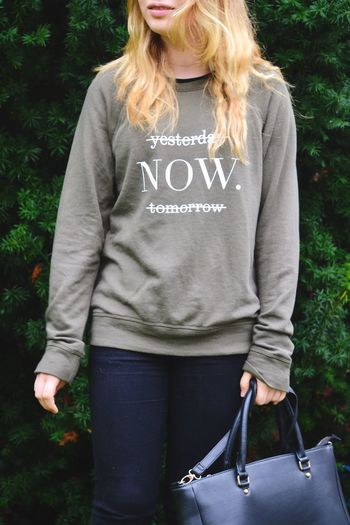 Live now Casual Clothing One Person Text Day Standing Outdoors Real People Blond Hair Young Adult People Now Live Now Words Of Wisdom... Wisdom Words Word Fashion Front View Text